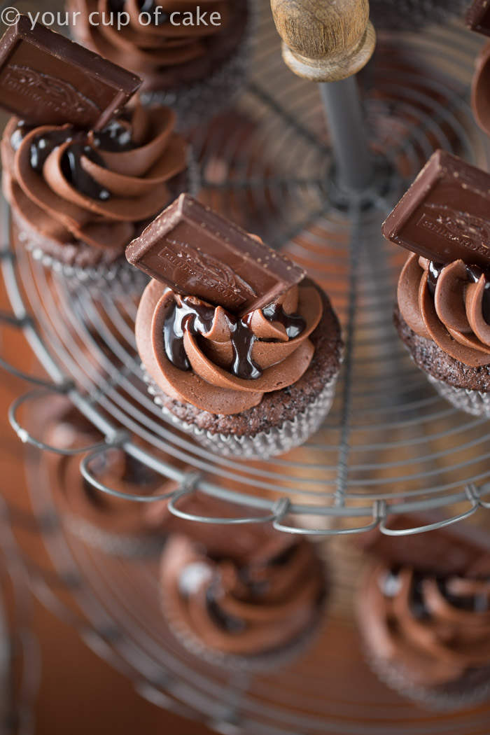 Chocolate Cherry Cupcakes, it's a chocolate lovers dream come true!
