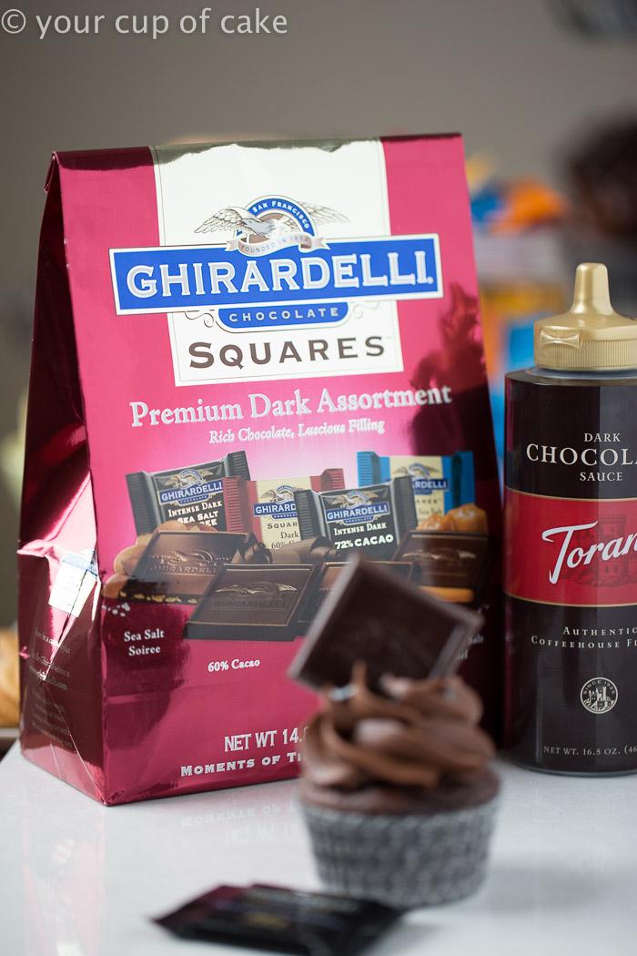 Using Ghiradelli chocolates