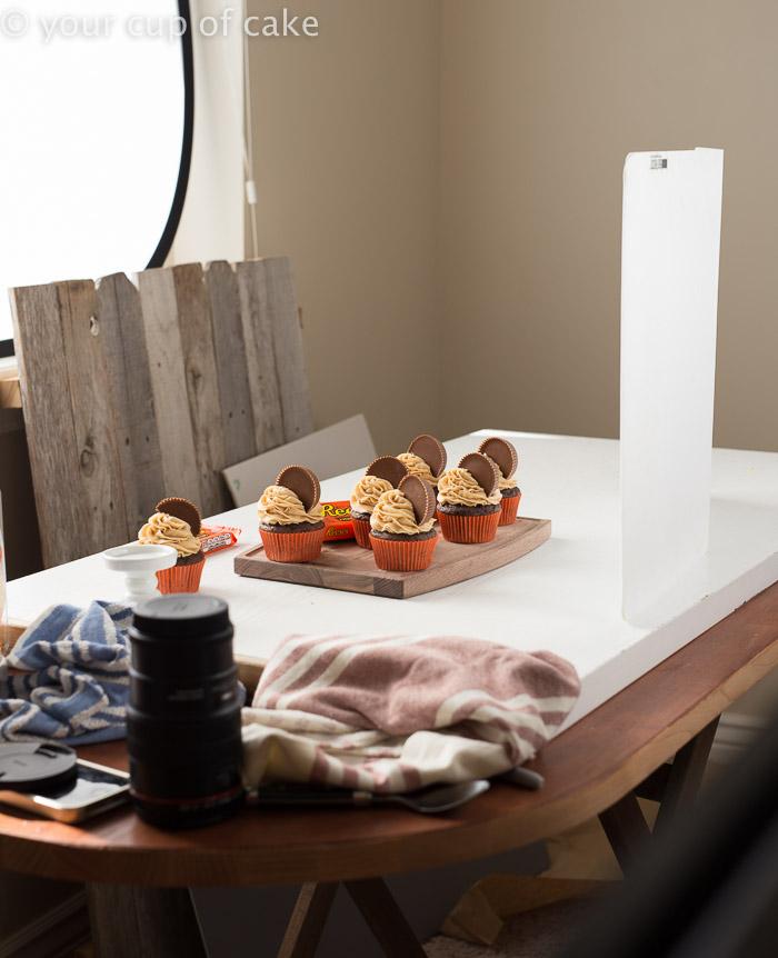 How to set up food photos at home DIY