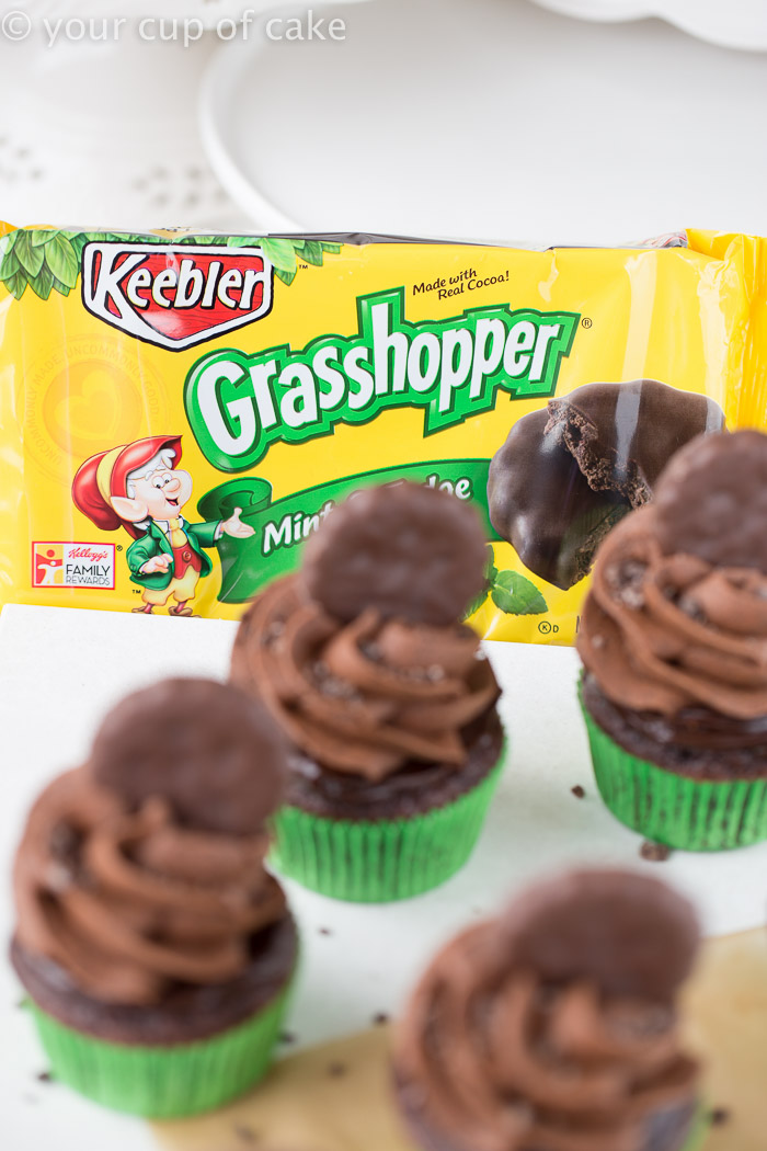 Thin Mint Fudge Cupcakes, oh my! And this recipe is so easy!