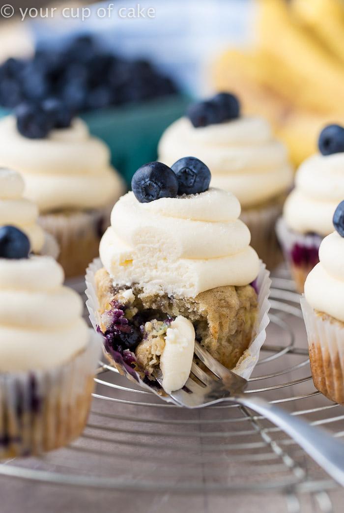 Vegan Banana Blueberry Cupcakes