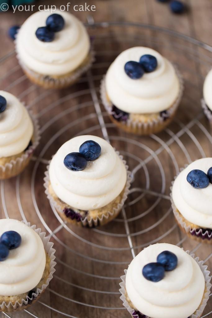 Vegan Banana Blueberry Cupcakes, SO good!  It's also a great recipe for eggless banana bread/cake!