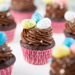 Chocolate Whopper Egg Cupcakes