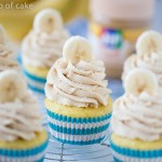 Peanut Butter Banana Maple Cupcakes