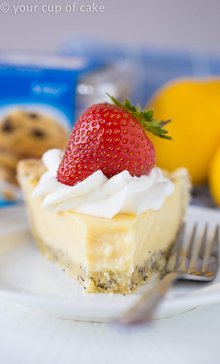 Lemon Cream Pie with Poppy Seed Crust