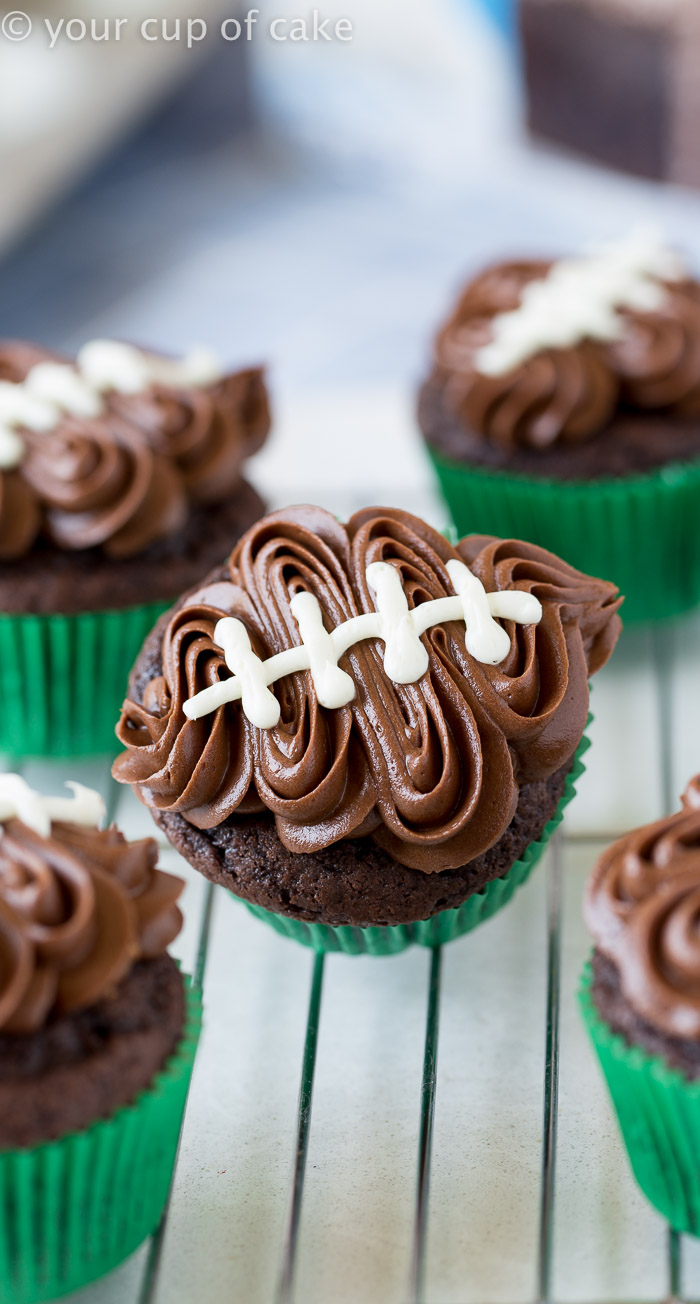 Easy Football Cupcakes With A Video To Show You How Decorate