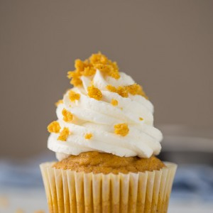 Easy Peazy Pumpkin Cupcakes for anyone who thinks they can't bake! You can make these... i promise! And they're SO good!