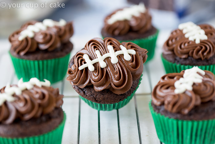 football cupcake cake easy football cupcakes with your cup of cake 4308