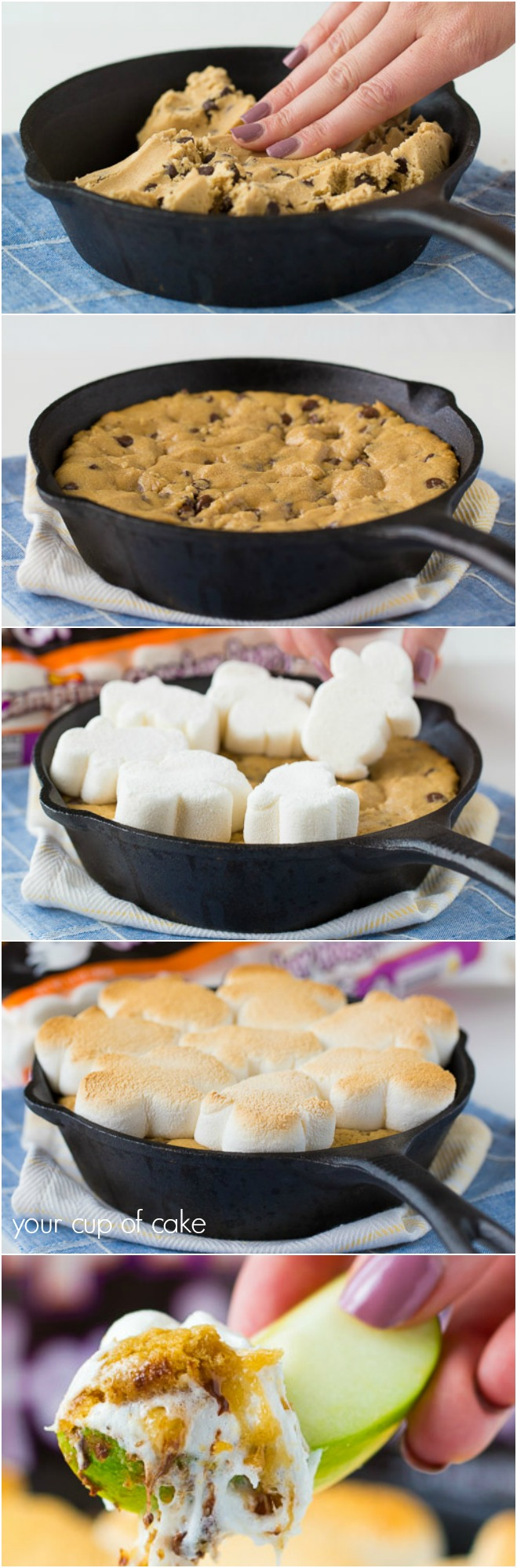 how-to-make-a-marshmallow-cookie-skillet
