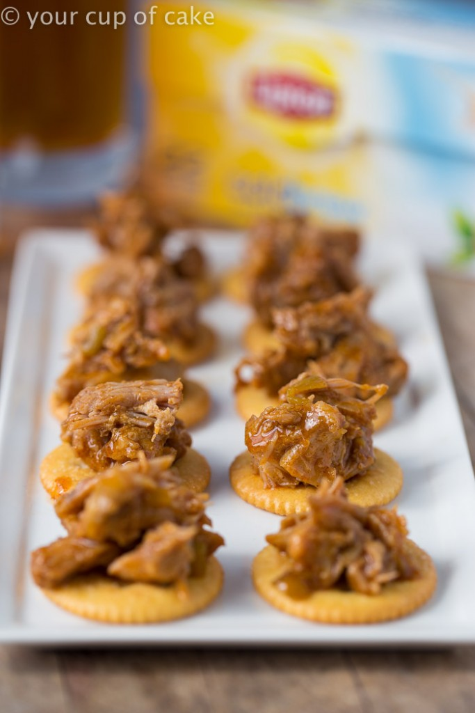 Sweet Pulled Pork Bites for game day!
