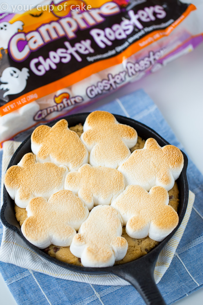 Toasty Ghosty Cookie Skillet