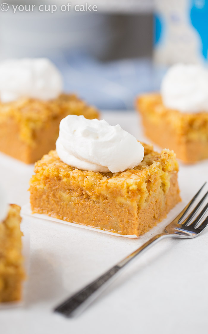Magic Pumpkin Pie Cake Your Cup Of Cake