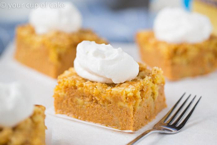 Magic Pumpkin Pie Cake, it better than pumpkin pie and it's easier too!