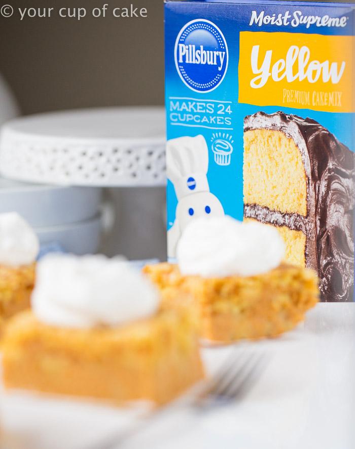 Pumpkin Cake Mix Cake