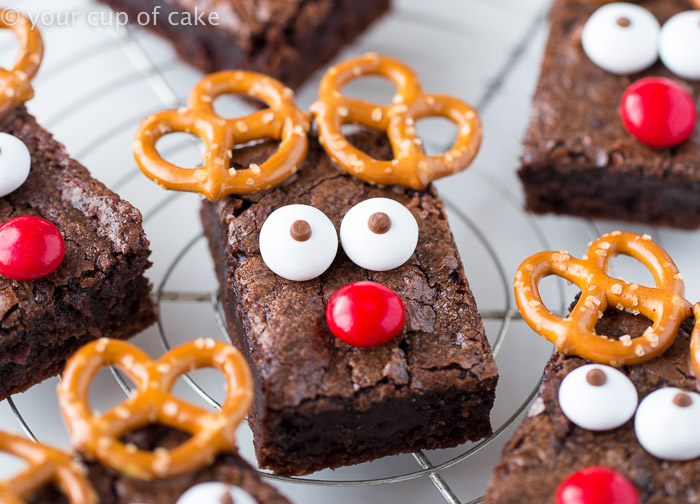 Easy rudolph brownies your cup of cake rudolph the red nose reindeer brownies an easy way to dress up brownies for christmas forumfinder Choice Image