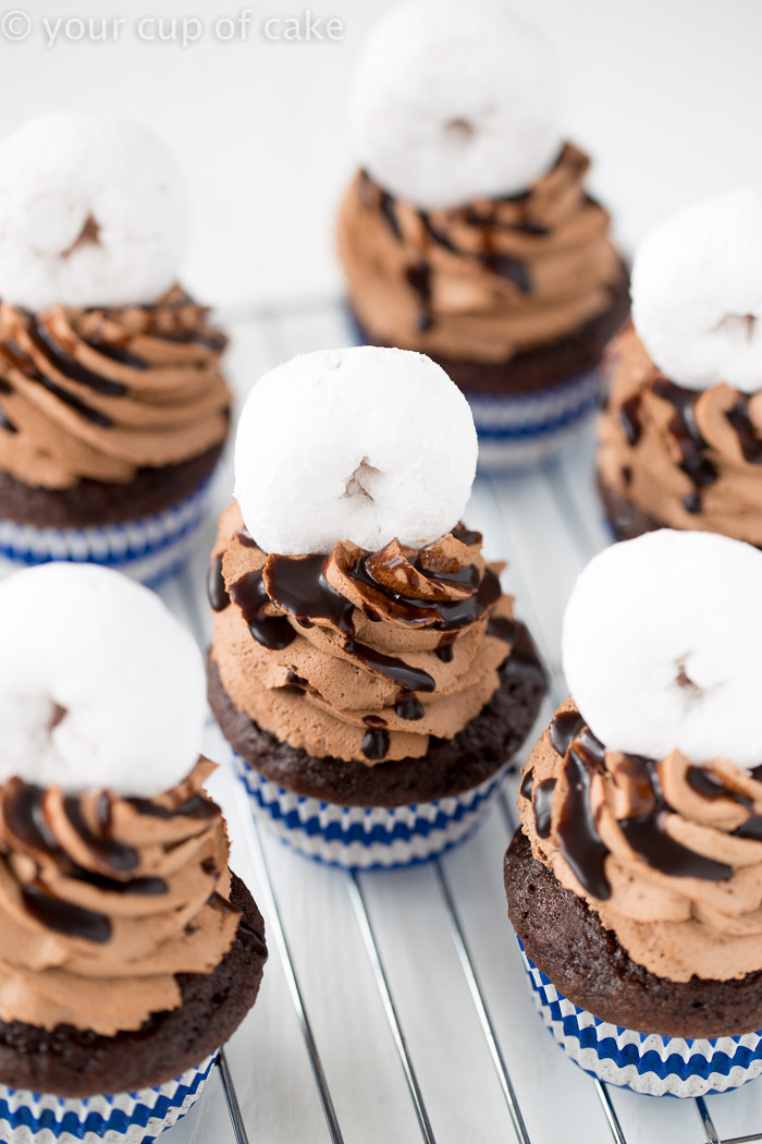Cupcakes so good they're Better than a Boyfriend. That's a mini donut on top!
