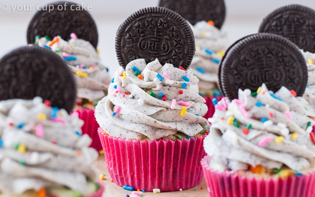 Oreo Funfetti Cupcakes are amazing