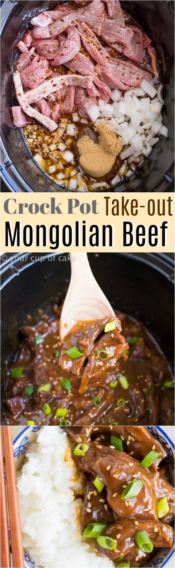 Crockpot Take out Mongolian Beef