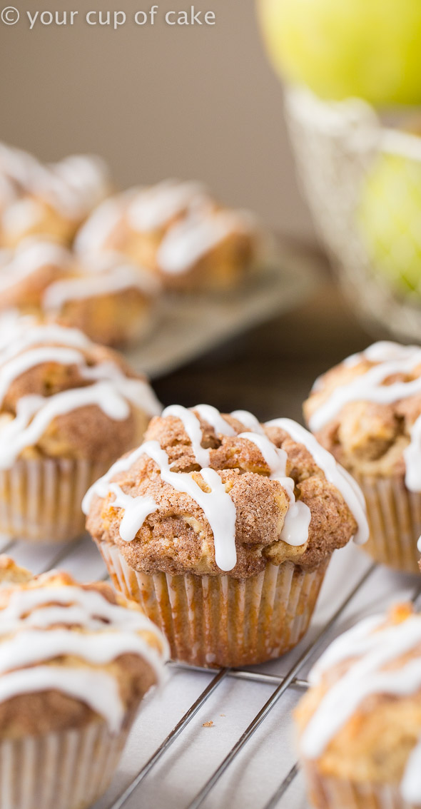 Bakery Style Apple Snickerdoodle Muffins