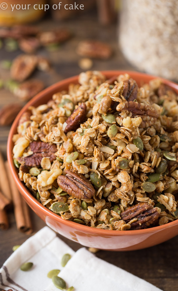 Chewy Pumpkin Granola for Fall