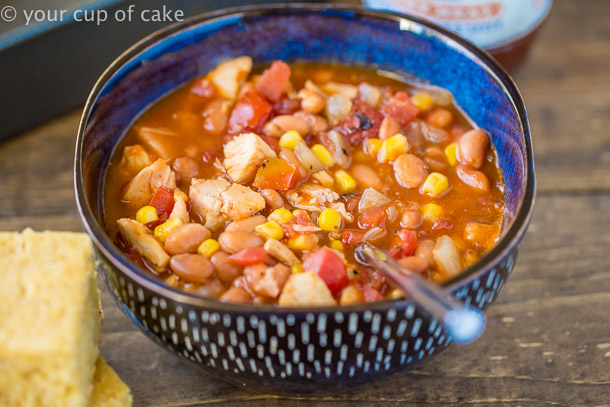 BBQ Chicken Soup recipe that's easy to make and the kids love it!