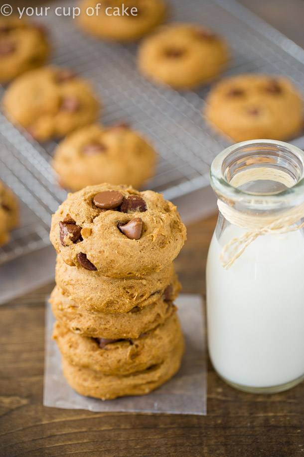 The perfect recipe for Bakery Style Pumpkin Chocolate Chip Cookies