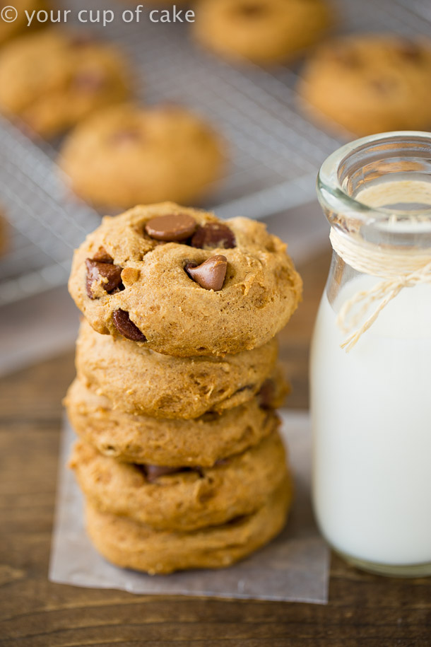 I can't believe how amazing these Bakery Style Pumpkin Chocolate Chip Cookies are!