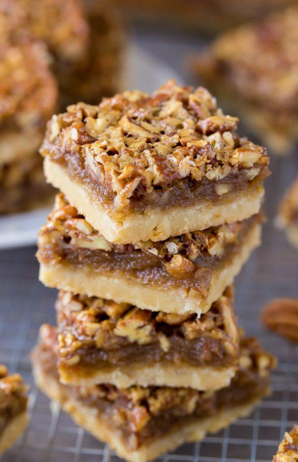 Better than your Mama's Pecan Pie Bars The best Pecan Pie Bars