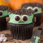 Cute Frankenstein Cupcakes for Halloween