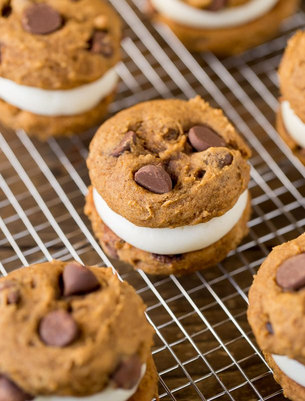 Pumpkin Cream Cheese Sandwich Cookies are the best pumpkin treat to make this fall
