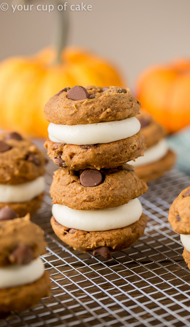 The Pumpkin dessert to die for Pumpkin Cream Cheese Cookie Sandwiches