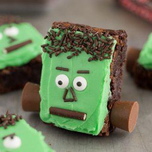 Spooky Frankenstein Brownies an easy treat to make