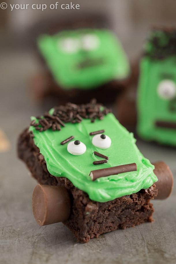 East Halloween treat Frankenstein Brownies