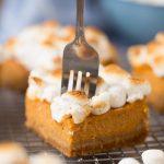 Sweet Potato Pie Bars for Thanksgiving Dessert
