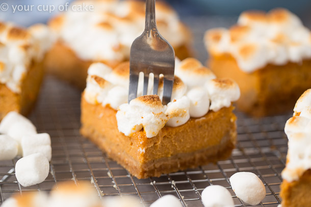 Sweet Potato Pie Bars for a southern thanksgiving
