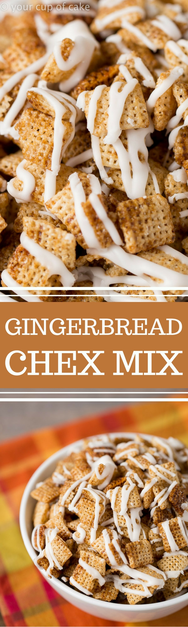 Gingerbread Chex Mix for Christmas munching!