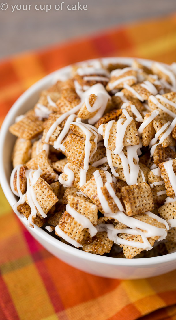 Gingerbread Chex Mix for Christmas parties and easy gifts!