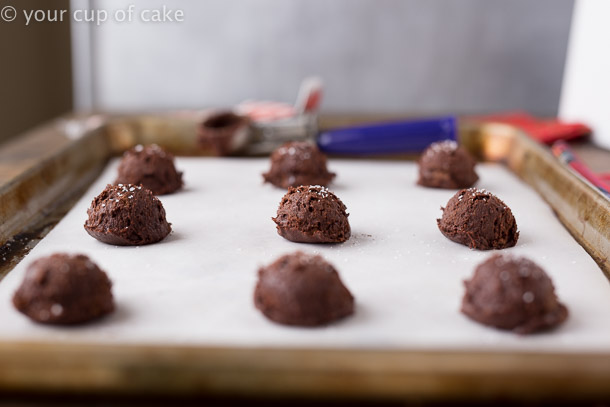 Super chocolatey Peppermint Bark Fudge Cookies that are perfect for Christmas Gifts