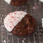 Peppermint Bark Fudge Cookies