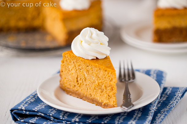 The BEST cheesecake I've ever had, Ultimate Pumpkin Cheesecake