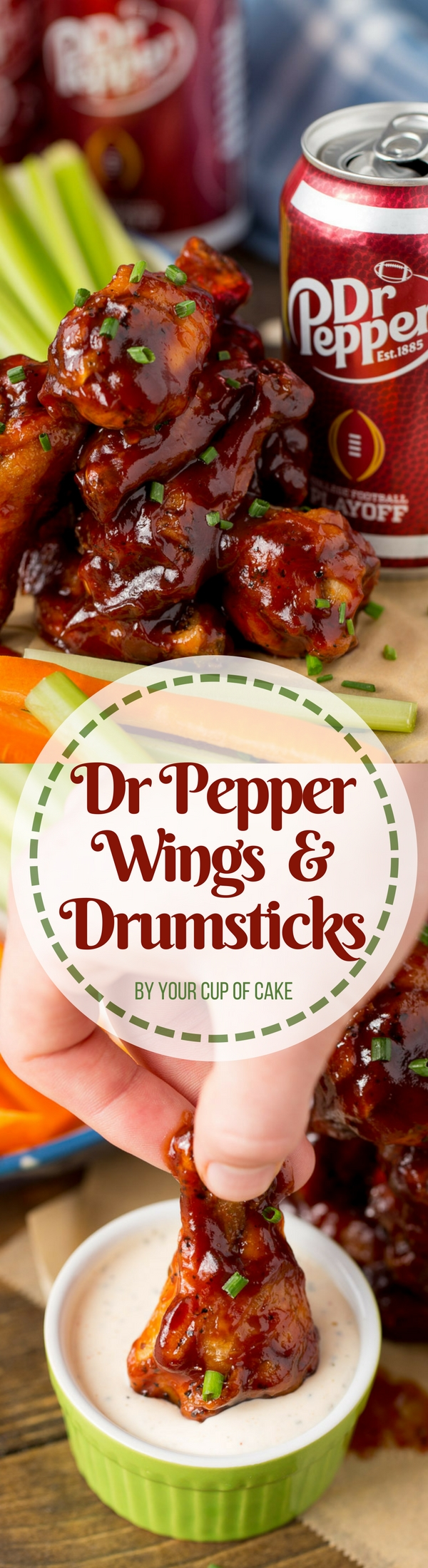 Dr Pepper Wings and Drumsticks is the perfect gameday party food! This Dr Pepper BBQ sauce recipe is awesome!