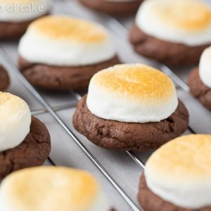 4 Ingredient Hot Chocolate Cookies (with Toasted Marshmallows)