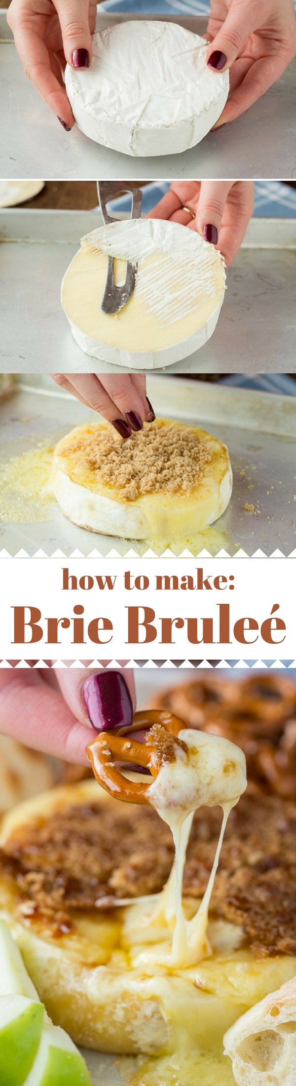 How to make Brie Brulee, this is my favorite appetizer because it's so easy to make! And looks fancy!