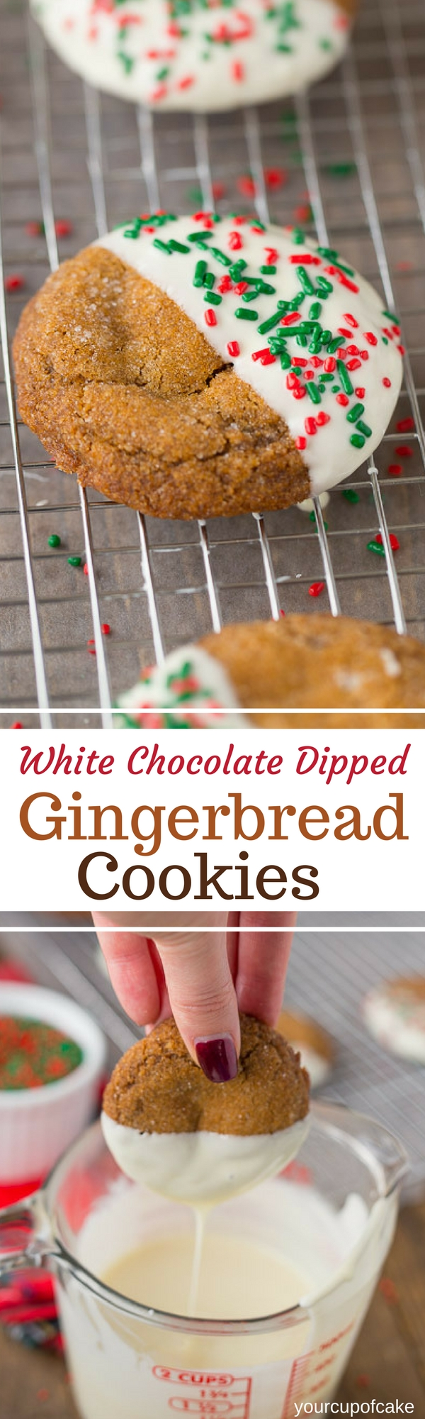 White Chocolate Dipped Gingerbread Cookies Your Cup Of Cake