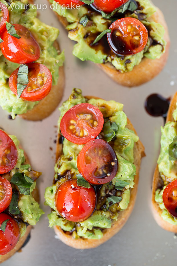Guacamole Bruschetta, the best bruschetta recipe!
