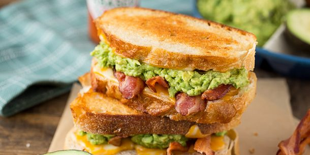 Bacon Avocado Grilled Cheese Sandwich.... this is AWESOME!