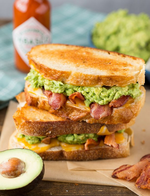 Best grilled cheese EVER. Bacon Avocado Grilled Cheese Sandwich