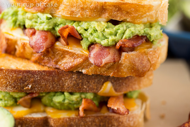 Bacon Avocado Grilled Cheese Sandwich, oh WOW!