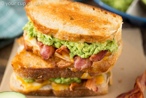 Bacon Avocado Grilled Cheese Sandwich Recipe