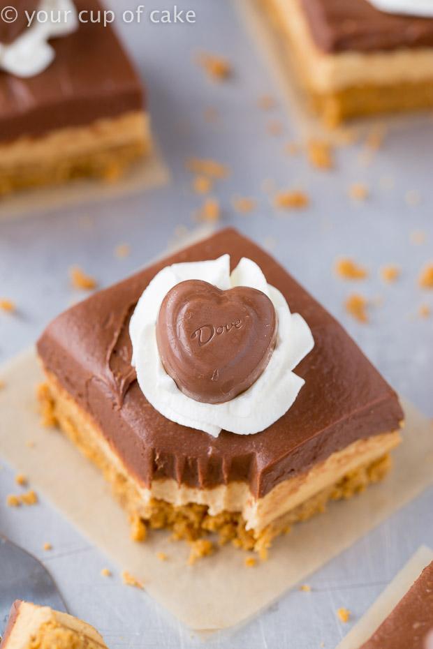 No Bake Chocolate Peanut Butter Cake